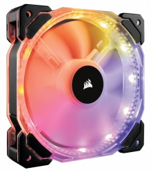 Ventilador Corsair HD120 RGB, 120mm, 800-1725RPM, Negro
