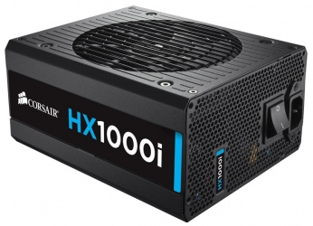 Fuente de Poder Corsair HX1000i 80 PLUS Platinum, 20+4 pin ATX, 140mm, 1000W, Negro