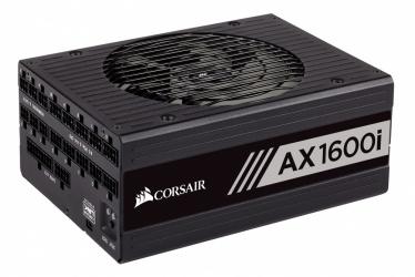 Fuente de Poder Corsair AX1600i 80 PLUS Titanium, 20+4 pin ATX, 140mm, 1600W