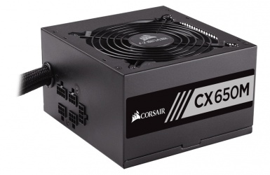 Fuente de Poder Corsair CX650M 80 PLUS Bronze, 20+4 pin ATX, 120mm, 650W, Negro