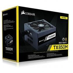 Fuente de Poder Corsair TX850M 80 PLUS Gold, 20+4 pin ATX, 140mm, 850W