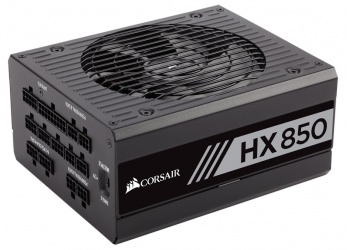 Fuente de Poder Corsair HX850 80 PLUS Platinum, 20+4 pin ATX, 135mm, 850W