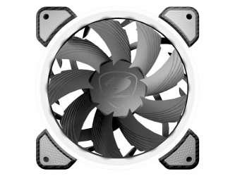 Ventilador Cougar Vortex FW 120 LED Blanco, 120mm, 1200RPM, Negro/Blanco