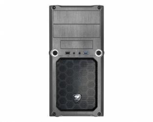 Gabinete Cougar MG100 con Ventana, Mini-Tower, Micro-ATX, USB 2.0/3.0, sin Fuente, Negro