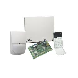 Crow Kit Sistema de Alarma Inteligente RUNNER4/8, incluye Panel Híbrido de 4 a 8 Zonas, Teclado y Sensor de Movimiento SWANQUAD