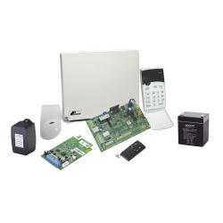 Crow Kit Sistema de Alarma RUNNER4/8-RFK1, Alámbrico, Incluye Panel/2x Contactos/Detector de Movimientos/Llavero RF/ Batería