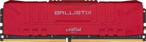 Memoria RAM Crucial Ballistix Rojo DDR4, 3200MHz, 16GB, Non-ECC, CL16, XMP