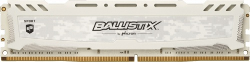 Memoria RAM Crucial Ballistix Sport White DDR4, 3000MHz, 16GB, Non-ECC, CL15, XMP