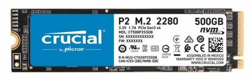 SSD Crucial P2, 500GB, PCI Express 3.0, M.2, NVMe