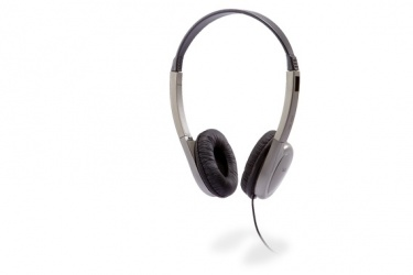 Cyber Acoustics Audífonos Stereo HE-200, Alámbrico, 1.8 Metros, Negro/Plata