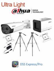 Dahua Kit de Vigilancia ULTRA LIGHT de 1 Cámaras Bullet Térmica y 1 Caja de Medición de Temperatura Corporal