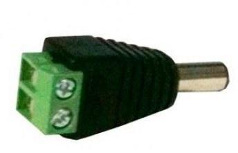 Dahua Adaptador de Corriente CC Macho, Negro/Verde