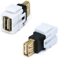 Data Components Jack Tipo USB A Hembra - USB A Hembra, Blanco