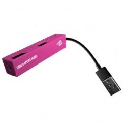 Data Components Hub USB 2.0, 4 Puertos, Rosa