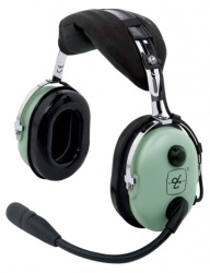 David Clark Auriculares con Micrófono H10-13.4, Alámbrico, Negro/Verde