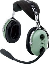 David Clark Auriculares con Micrófono H10-13H, Alámbrico, Negro/Verde