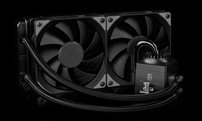 DeepCool Captain 240 EX RGB Enfriamiento Liquido para CPU, 2x 120mm, 500 - 1800RPM
