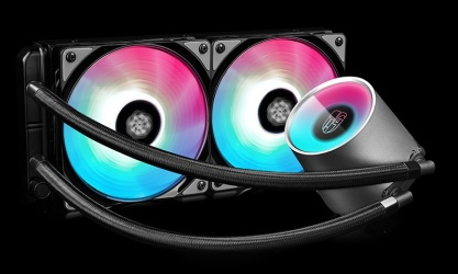 Deepcool Castle 240 RGB Enfriamiento Liquido para CPU, 2x 120mm, 500 - 1800RPM
