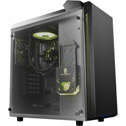 Gabinete DeepCool Baronkase Liquid con Ventana RGB, Tower, ATX/Micro-ATX/Mini-ATX/Mini-ITX, USB 3.0, sin Fuente, Negro