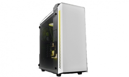 Gabinete DeepCool Baronkase Liquid con Ventana RGB, Tower, ATX/Micro-ATX/Mini-ATX/Mini-ITX, USB 3.0, sin Fuente, Blanco