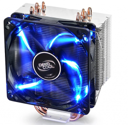 Disipador CPU DeepCool GAMMAXX 400, LED Azul, 120mm, 900 - 1500RPM, Negro