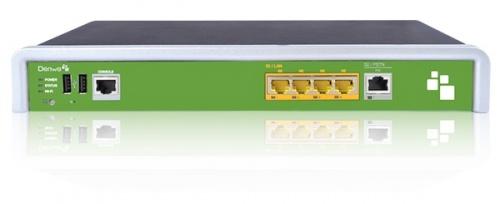 Denwa Gateway para Teléfono IP DW-GTW-AC-E1030, 4x RJ-45