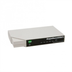 Digi Hub USB, 5 Puertos USB 2.0, 100 Mbit/s, Negro/Blanco
