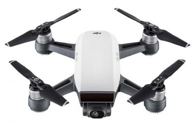 Drone DJI Spark Fly More Combo con Cámara 12MP, 4 Rotores, 30 Metros, Negro/Blanco
