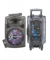 Mitzu Bafle Donker MSA-9012, Bluetooth, Alámbrico/Inalámbrico, 40W RMS, 7500W PMPO, USB, Negro
