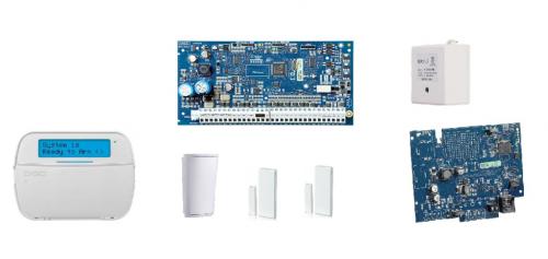 DSC Modulo de Expansión de 32 Zonas HS2032PCB, para PowerSeries Neo — incluye Teclado, Comunicador IP, Sensor PIR y Contactos Magnéticos