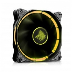 Ventilador Eagle Warrior Halo, LED Amarillo, 120mm, 1200RPM, Negro