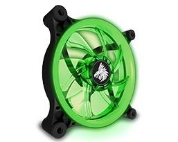 Ventilador Eagle Warrior Aurora LED Verde, 120mm, 1200RPM, Negro