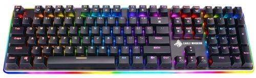 Teclado Gamer Eagle Warrior STREAM RGB, Teclado Mecánico, Switch Outemu Blue, Alámbrico, Negro (Español)