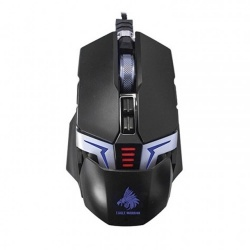 Mouse Gamer Eagle Warrior Óptico The Flash, Alámbrico, 4000DPI, Negro