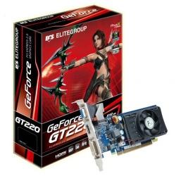 ECS GeForce NGT220C, 512MB DDR2, 1DVI, 1VGA, HDCP PCIe 2.0