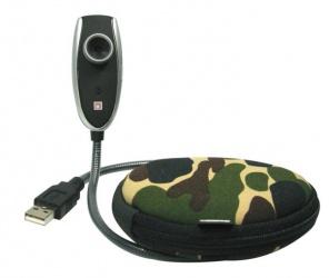 Emtec Webcam con Micrófono, 1280 x 1024 Pixeles, USB 2.0 + Estuche Snake