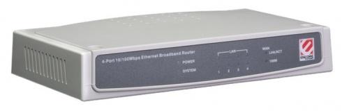 Router Encore Fast Ethernet ENRTR-104, 54 Mbit/s, 4x RJ-45