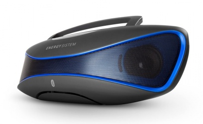 Energy Sistem Bocina Portátil Music Box BZ6, Bluetooth, Inalámbrico, 2.0, 12W RMS, Negro/Azul