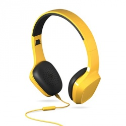 Energy Sistem Audífonos con Micrófono Headphones 1, Alámbrico, 1.2 Metros, 3.5mm, Amarillo