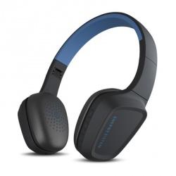 Energy Sistem Audífonos con Micrófono Headphones 3, Bluetooh, Inalámbrico, Negro/Azul