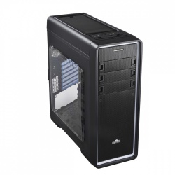 Gabinete Enermax OSTROG ADV con Ventana LED Rojo, Midi-Tower, ATX/Micro-ATX/Mini-ITX, USB 2.0/3.0, sin Fuente, Negro/Rojo