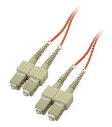Enet Cable Fibra Óptica Dúplex Multimodo OM1 SC Macho - SC Macho, 62.5/125, 2 Metros, Naranja