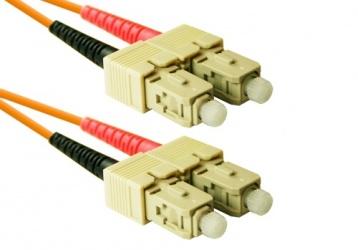 Enet Cable Fibra Óptica Dúplex OM2 2x SC Macho - 2x SC Macho, 1 Metro, Naranja