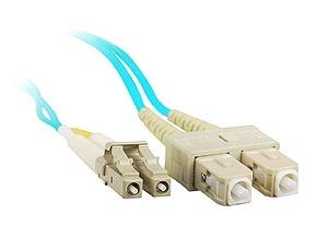 Enet Cable Fibra Óptica Dúplex Multimodo OM3 SC Macho - LC Macho, 50/125, 2 Metros, Aqua