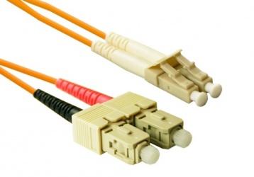 Enet Cable Fibra Óptica Dúplex Multimodo SC Macho - LC Macho, 50/125, 1 Metro, Naranja