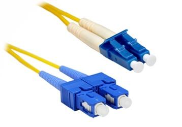 Enet Cable Fibra Óptica Dúplex OS1 SC Macho - LC Macho, 9/125, 20 Metros, Amarillo