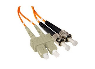 Enet Cable Fibra Óptica Dúplex Multimodo OM2 SC Macho - ST Macho, 50/125, 3 Metros, Naranja