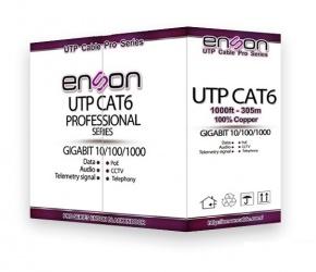 Enson Bobina de Cable Cat6 UTP Eco, 305 Metros, Gris
