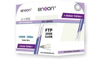 Enson Bobina de Cable Cat5e FTP Serie Eco, 305 Metros, Gris