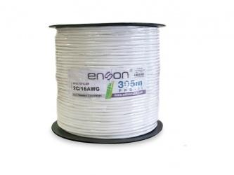 Enson Bobina de Cable de Señal, 305 Metros, Blanco